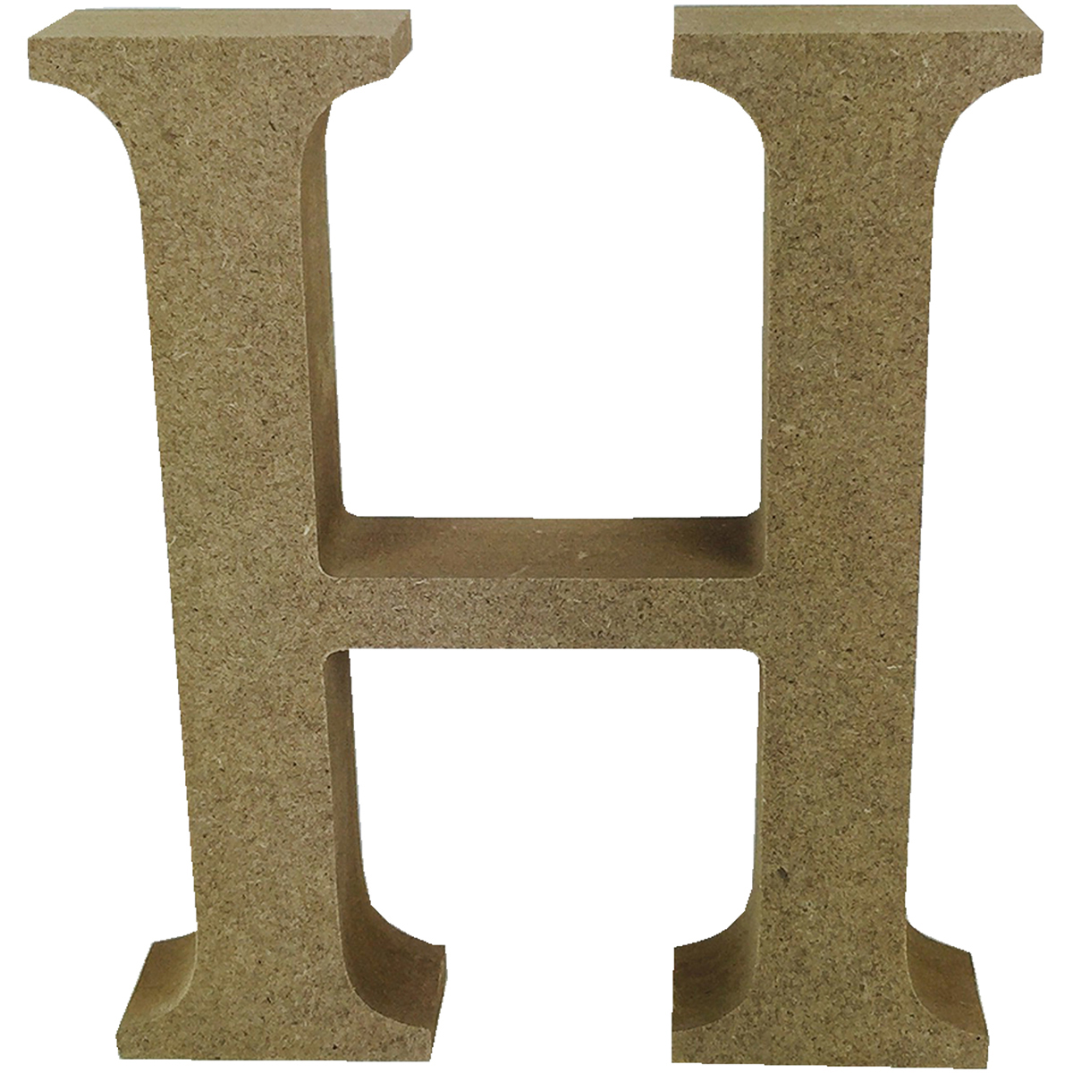 Smooth MDF Blank Shape-Serif Letter H