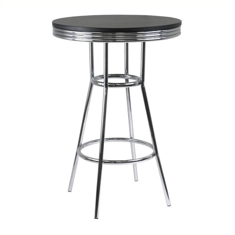 """Pemberly Row 30"""" Round Pub Table in Black/Metal Finish - image 1 of 1"""
