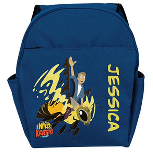 Personalized Wild Kratts Martins Wasp Ride Blue Toddler Backpack