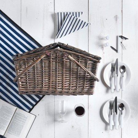 Vonshef Deluxe 2 Person Folding Handle Picnic Basket