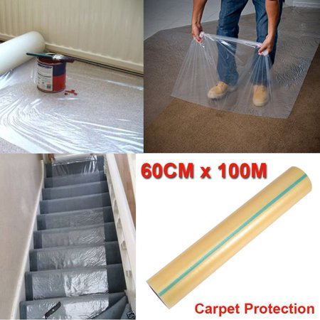 Plastic Carpet Cover >> Pro Carpet Protector Self Adhesive Plastic Protection Film 24 X 328ft Fr Rug By
