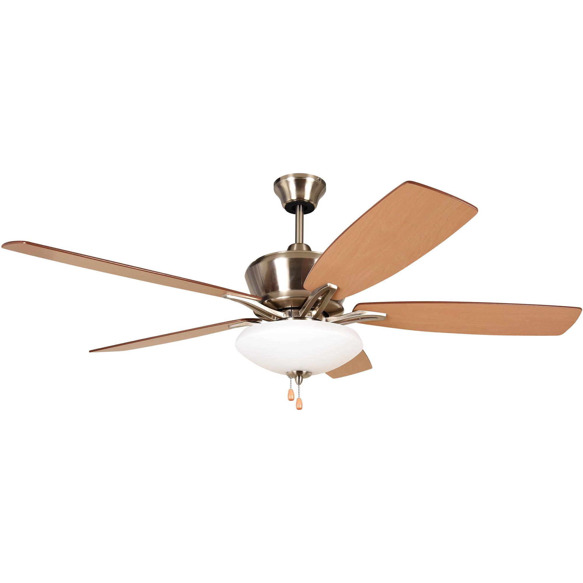 Litex Industries Kala 52 Quot Dual Mount Ceiling Fan Brushed