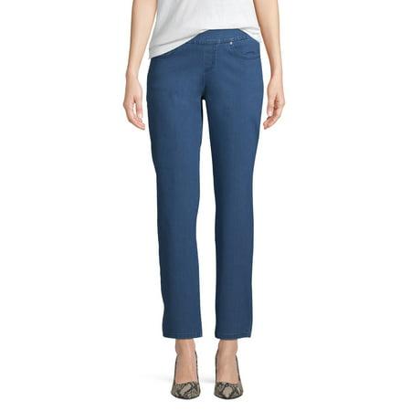Time and Tru Woven 5 Pocket Pull-On Pant Women's Velvet 5 Pocket Pants