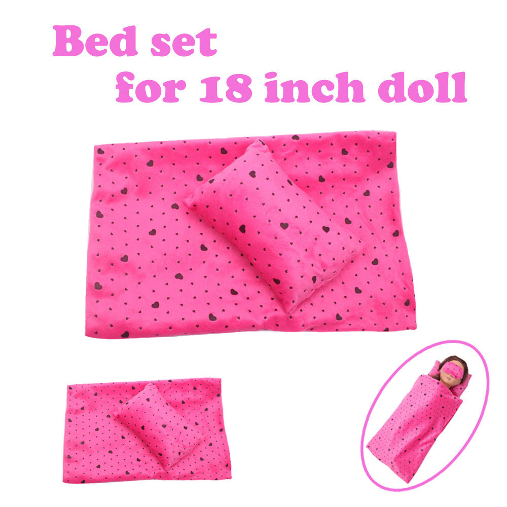 DZT1968 Bedding Set Sleeping Bag For 18 Inch American Girl Doll Accessory Girl's Toy