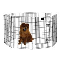 MidWest Foldable Metal Exercise Pet Playpen, With and Without Door