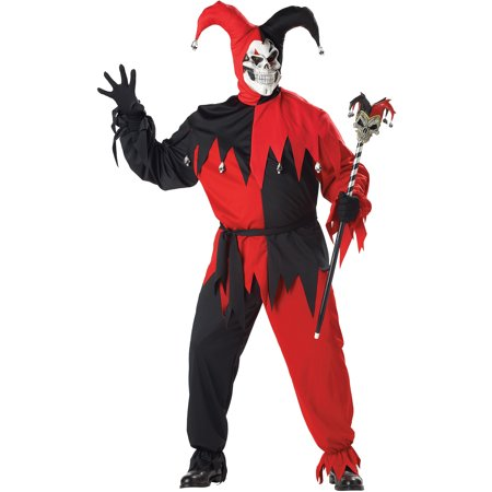 Jester Evil Adult Halloween Costume](Evil Jester Halloween Makeup)