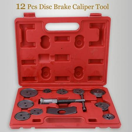 12pc Disc Brake Tools Piston Pad Caliper Wind Back Kit For Trucks HFON Disc Brake Caliper Tool Adapter