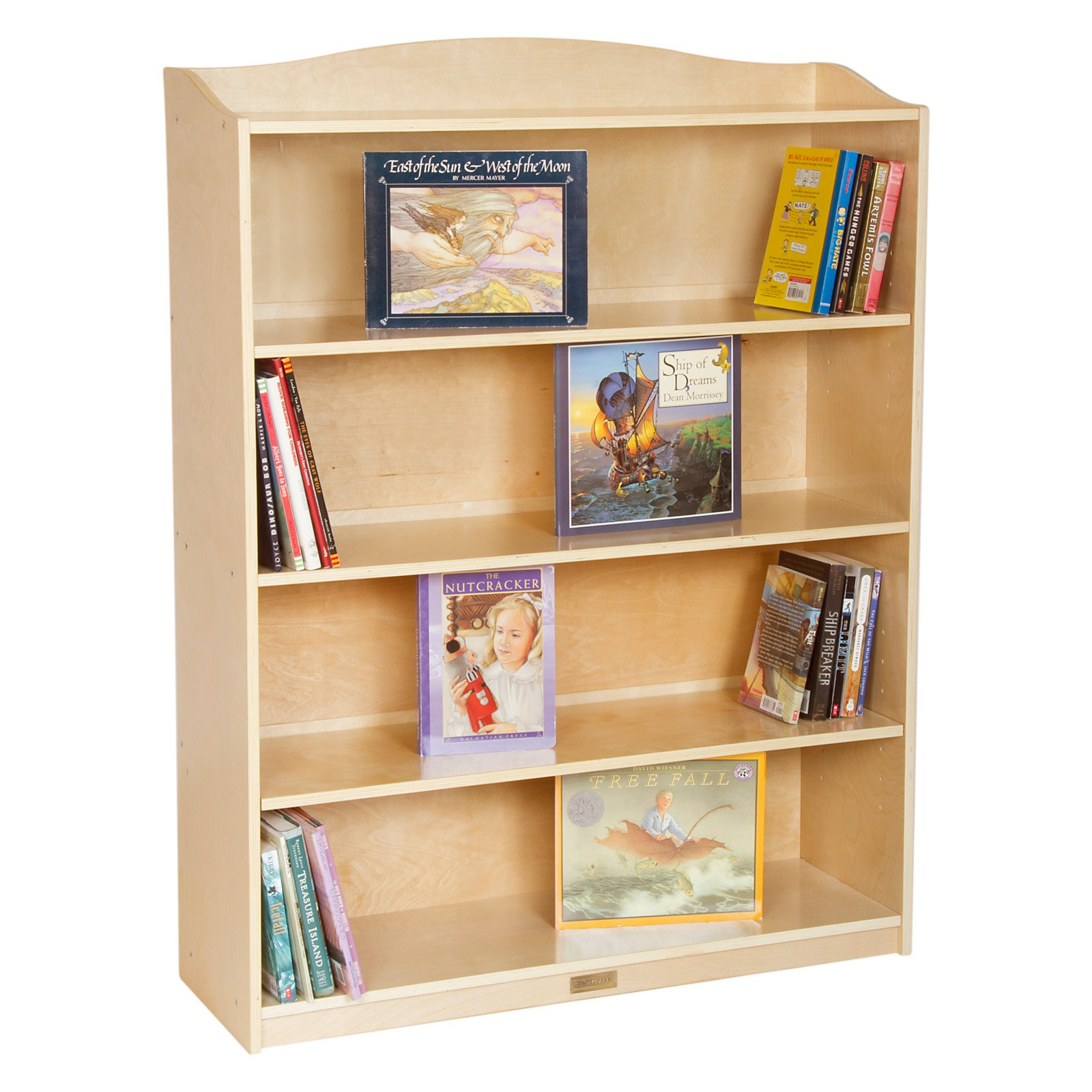 Guidecraft 5 Shelf Bookshelf