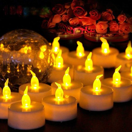 led tea lights candles electronic candles flickering flameless tealight candle battery. Black Bedroom Furniture Sets. Home Design Ideas
