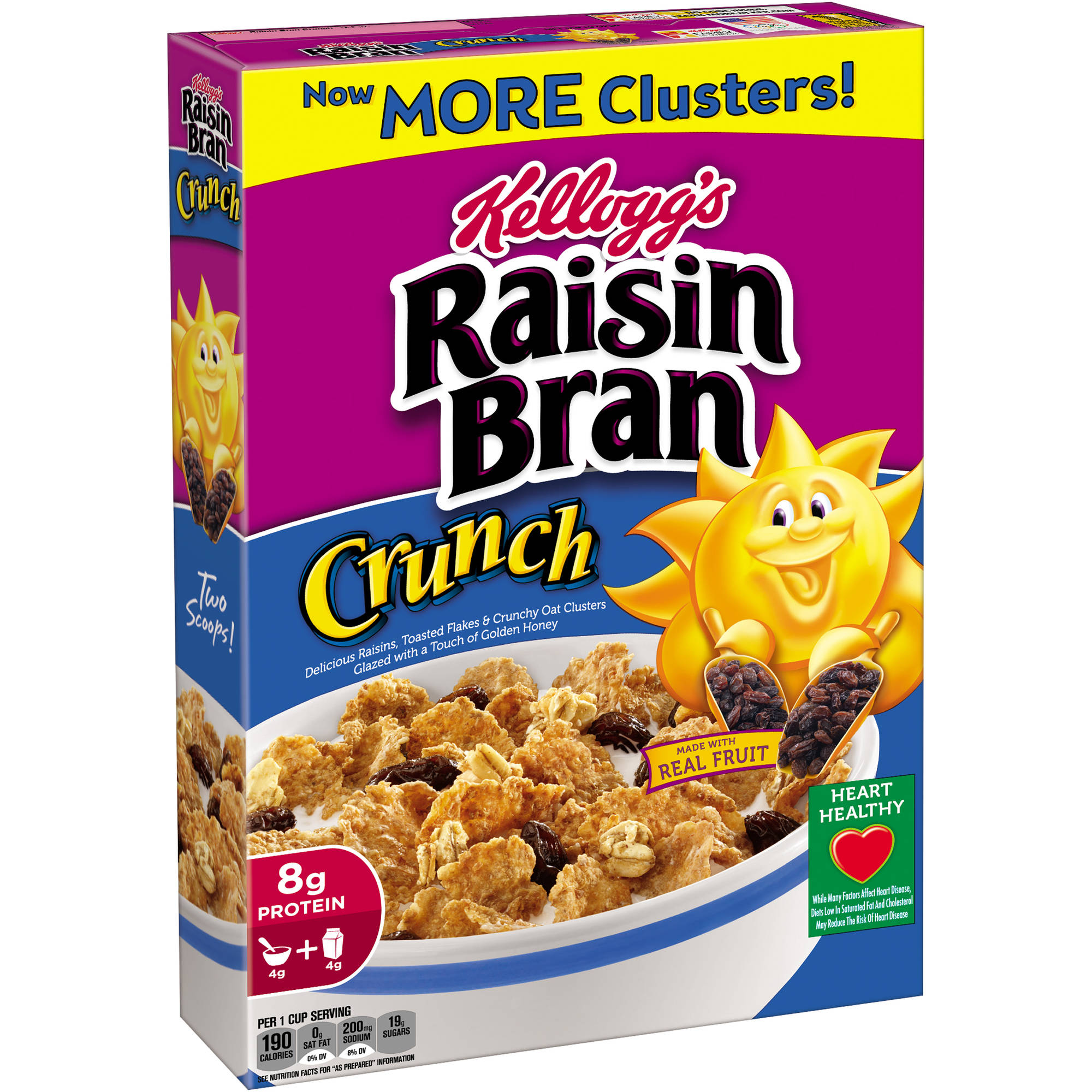 Kellogg's Raisin Bran Crunch Cold Cereal, 18.2 oz box