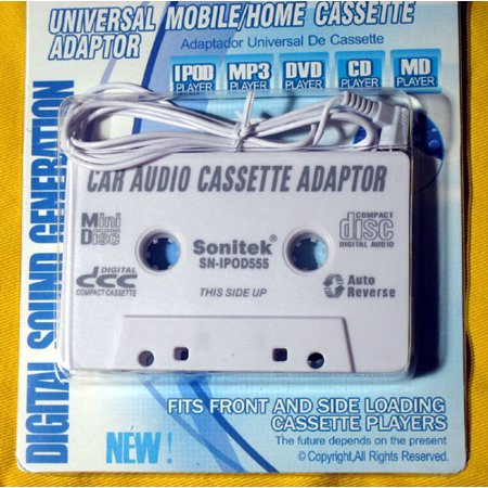 CAR AUDIO CASSETTE TAPE DECK ADAPTER ADAPTOR 4ALL IPOD MP3 CD IPOD IPHONE 3G
