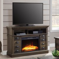 Better Homes & Gardens Granary Modern Farmhouse Fireplace TV Stand for TVs up to 55in, Aged Brown Ash Finish