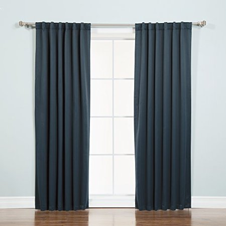 Blackout Curtain Noise Reduction - Machine Washable Thermal Insulated (Best Insulation For Noise)