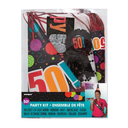 Birthday cheer 50th birthday party kit 5 piece for 50th birthday decoration packs