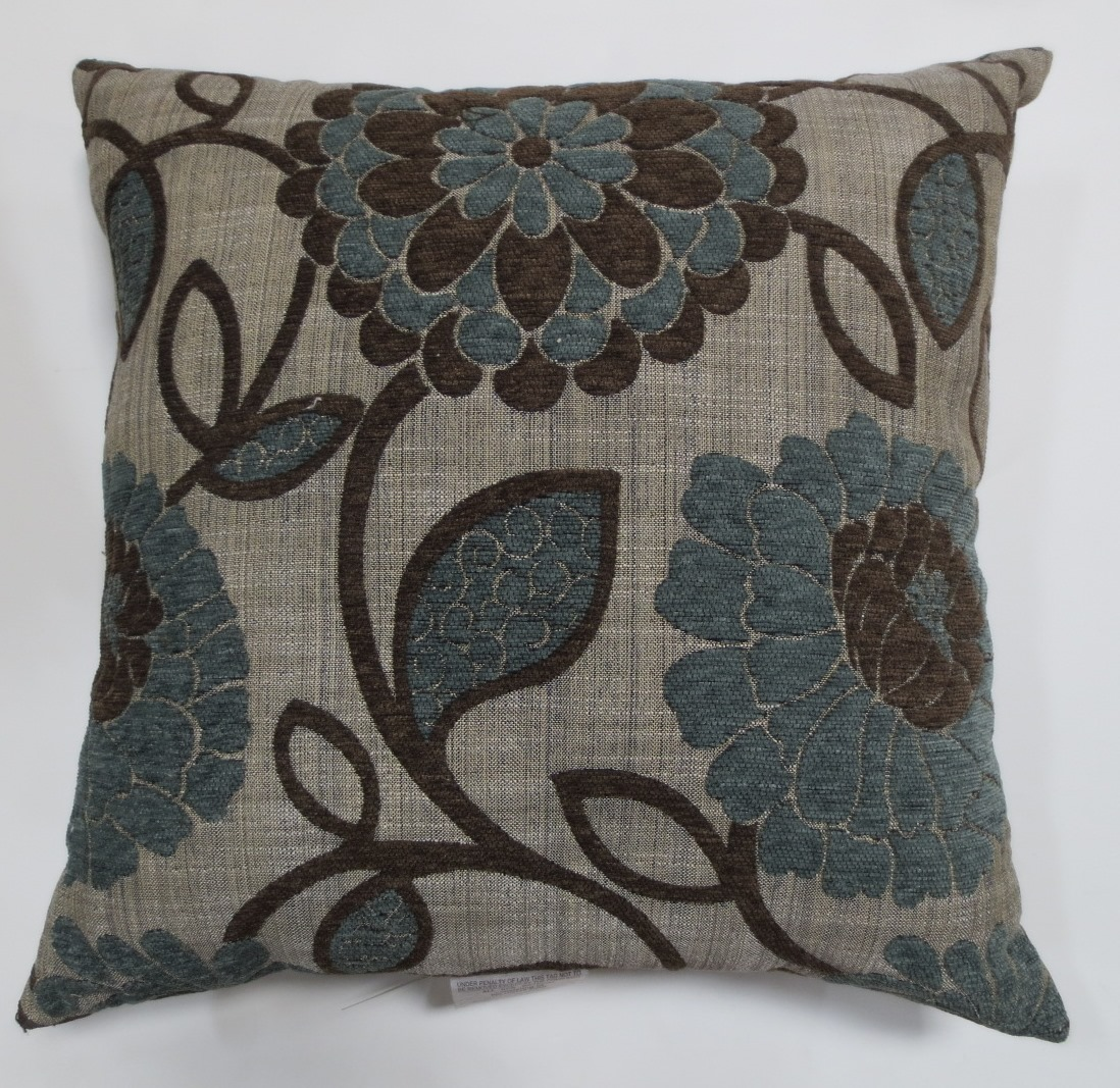 Better Homes and Gardens Blue Floral Decorative Pillow by Spencer Enterprises