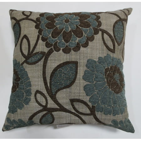 Better Homes Gardens Blue Floral Decorative Pillow 22x22
