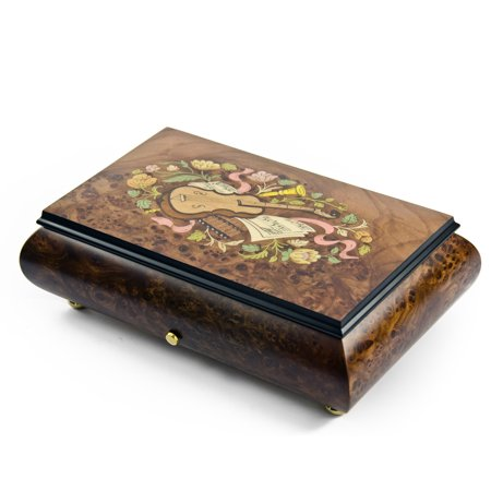 Traditional Swiss 36 Note Musical Instrument Theme Inlay Grand Music Box - 9th Symphony / Ode To Joy