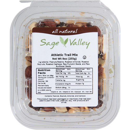 Sage Valley Athletic Trail Mix, 9 oz, (Pack of 6)