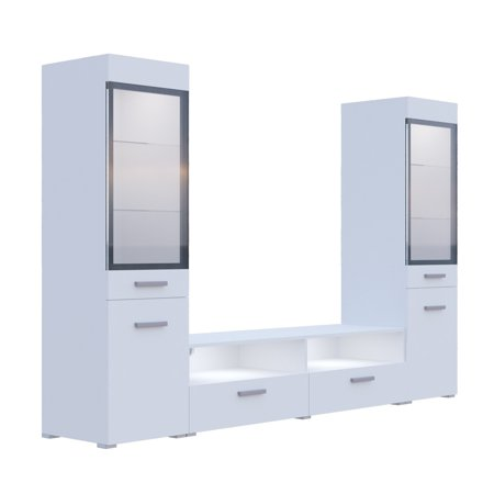 Sarah Ii Tv Wall Unit Set, White by Helvetia