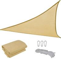 Yescom 16.5' Triangle Patio Canopy Cover UV Blocking Sun Shade Sail