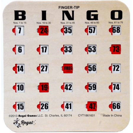 Regal Games 10 Woodgrain / Tan Fingertip Shutter Slide Bingo Cards](Halloween Bingo Board)
