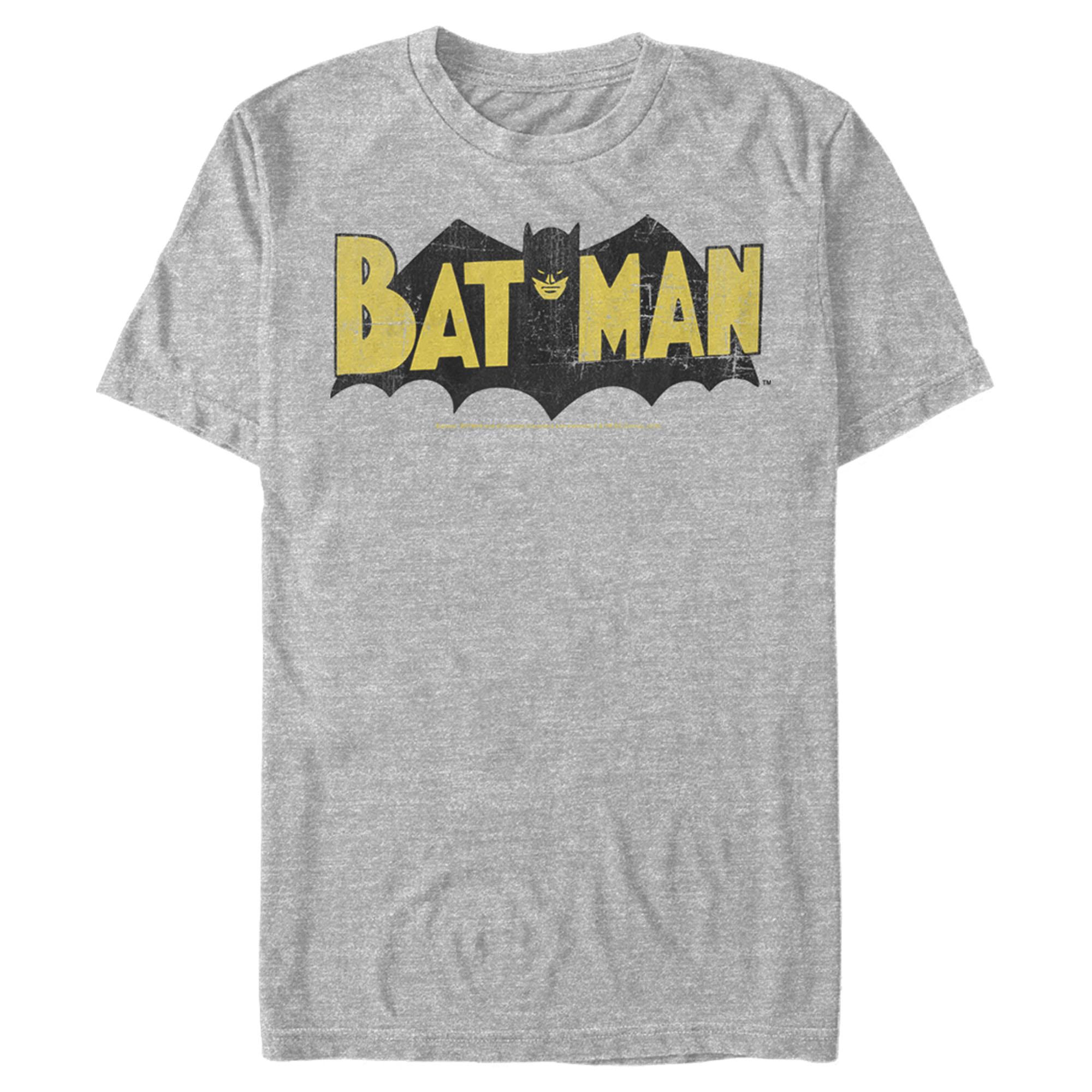 Batman Flames Logo Adult Work Shirt