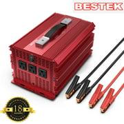 Bestek 2000W Power Inverter 3 AC Outlets DC 12V to 110V AC Car Converter Aluminium Housing ETL Liste