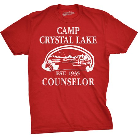 - Mens Camp Crystal Lake T shirt Funny Shirts Camping Vintage Horror Novelty Tees