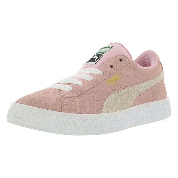 Esquivo Malversar federación  PUMA - Puma Suede PS Little Kids Shoes Pink Lady/White/ P.T Gold 360757-30  - Walmart.com - Walmart.com