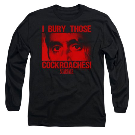 Scarface Men's  Cockroaches Long Sleeve Black](Scarface Halloween)