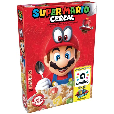 Kellogg's Super Mario Breakfast Cereal, Marshmallow, 8.4 ...