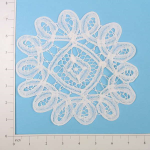 - Expo Int'l Round Battenburg Table Doily - White - 8