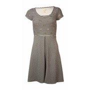 Maison Jules Women's Striped Embellished Dress Black Combo Size  M
