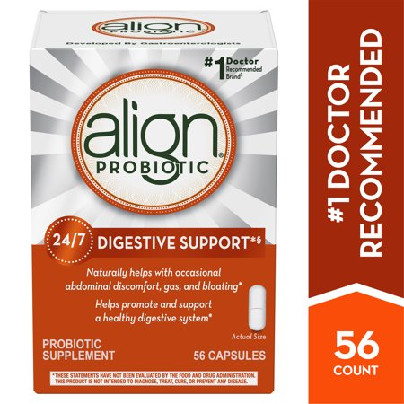 Align Probiotics, Probiotic Supplement for Daily Digestive Health, 56 capsules, #1 Recommended Probiotic by (Best Yogurt For Probiotic Health)