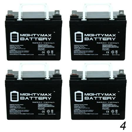 12V 35AH SLA Battery for NovaCaddy X9R Electric Trolley - 4 Pack ()