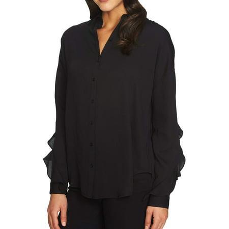1. State Rich Womens Large Split Back Button Down Shirt