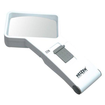 REIZEN 3.5x Illuminated Pocket Magnifier Reizen Maxi Brite Magnifier