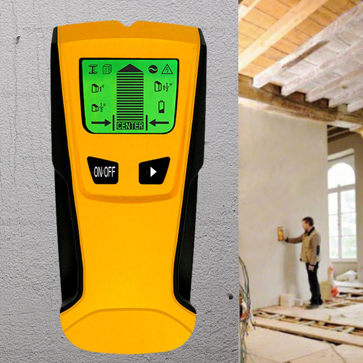 Floureon 3 in 1 LCD Digital Stud Scanner AC Live Wire Finder Wood Metal Wall Detector