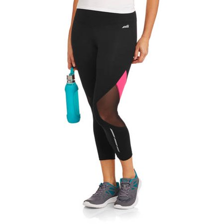 47cfdaa737394 Avia Women''s Active Performance Capri Leggings with Mesh Inserts As ...