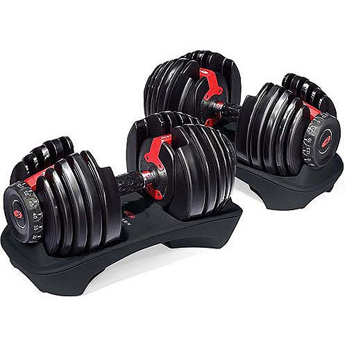 Bowflex SelectTech 552 Adjustable Dumbbells Syncs With Free App Space Saving Pairs