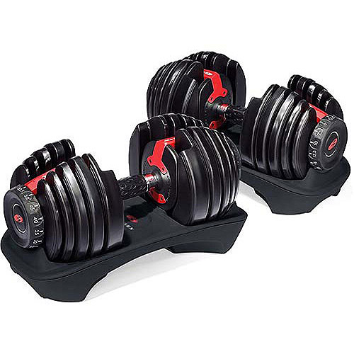 Bowflex SelectTech 552 Adjustable Dumbbells Syncs with Free SelectTech App & Space Saving