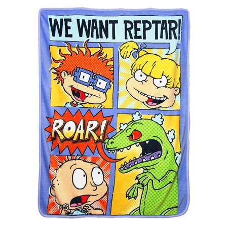Super Soft Throws - Nick Rewind - Comic Strip Rugrats New 45x60