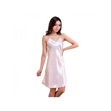 076e32574b67 VICOODA Women's Sexy Lingerie One Piece V Neck Silk Satin Chemise Nightgown  Full Slip Bodysuit Babydoll Sleepwear Robes Evening Dress - Walmart.com