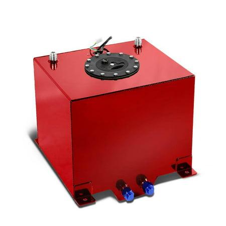 Ktaxon 5 Gallon 19L Polished Aluminum Race Drift Fuel Cell Tank Level Sender Red