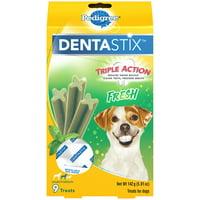 Pedigree Dentastix Small/Medium Dental Dog Treats, Fresh Flavor, 5 Oz. Pack (9 Treats)