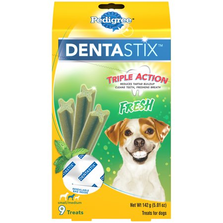 Pedigree Dentastix Small/Medium Dental Dog Treats, Fresh Flavor, 5 Oz. Pack (9 Treats)](Trunk Treat)