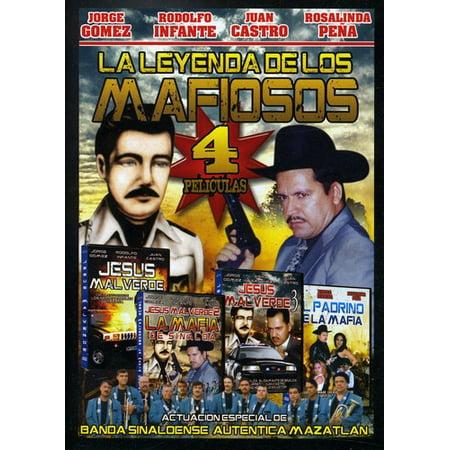 La Leyenda De Los Mafiosos: 4 Peliculas (DVD) (Peliculas De Halloween Gratis)
