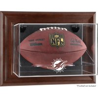 Miami Dolphins Brown Framed Wall-Mountable Football Case