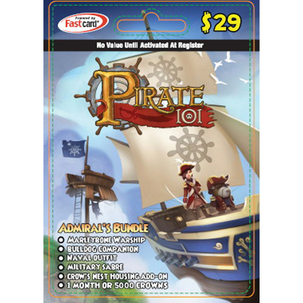KingsIsle Pirate101 Admiral's Bundle $29 Card