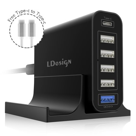 Usb Charging Station 60w 12a 6 Port Travel Charger By Ldesign Mini Compact Portable Design